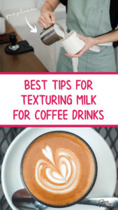texturing milk for coffee drinks, frothing milk
